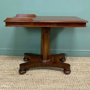 Quality Victorian Mahogany Double Sided, Reading / Music Table.