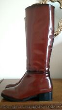 Zara Woman Brown Faux Leather Equestrian Riding Boots FR38 UK5 EU38 Fabulous!