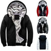 New Men Winter Thick Zip Up Cardigan Hooded Hoodie Jumper Coat Jacket Size S-5XL