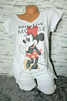 Italy New Collection T-Shirt weiß Minnie Mickey Mouse Gr. 36 38 40 42 blogger