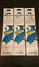 Mustad 3 packs Size 10 Snelled Fish Hooks (Beak) Qty. 5