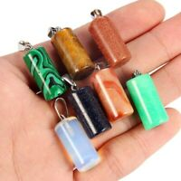 Mixed Color Natural Stone Pendant Charm Beads For DIY Necklace Jewelry Findings