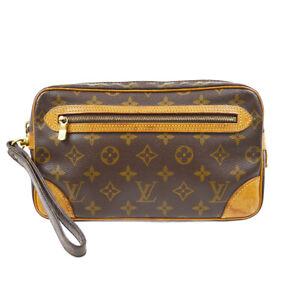 LOUIS VUITTON MARLY DRAGONNE CLUCTH HAND BAG PURSE MONOGRAM M51825 TH0912 92798