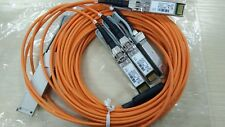 Lots of 2 Cisco QSFP-4X10G-AOC5M 40G QSFP+to 4x10G SFP+ Active Optical cable