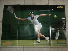 JUSTINE HENIN + DAVID NALBANDIAN - DOUBLE GIANT POSTER 82 cm x 54 cm - COLLECTOR