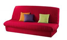 Douceur d'Intérieur Housse de Clic Clac Mat + bande socle - Rouge - 120 x 140 Cm