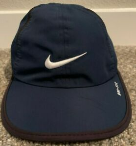 Strapback Dark Blue NIKE YOUTH adjustable dry fit dri-fit Hat cap