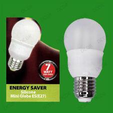 2x 7W Basse Energie CFL Globe Ampoule, ES, E27, Visse