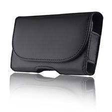 CUSTODIA Universale SMARTPHONE XL 150 82 10 mm ECO PELLE con Passante Cintura