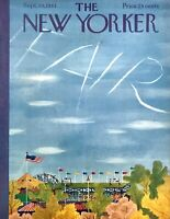 1961 Country Fair Grandstand & Skywriting art Sept 30 New Yorker Mag COVER ONLY
