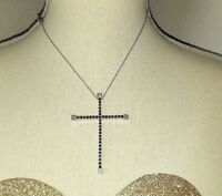 Collana Uomo Donna in Argento 925 Ciondolo Croce in Argento 925 e Zirconi silver