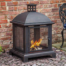 "40"" Fire Pit Lantern Log Burner Chiminea Caicos by Fire Mountain"