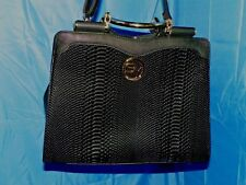 SALLY YOUNG BLACK CELEBRITY LOOK SHOULDER TOTE HANDBAG WITH DUST COVER- NWOT