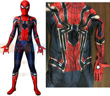Avengers: Infinity War Spiderman Cosplay Costume Halloween Fullbody Tights New