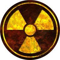 2 x Radioactive Symbol Surf Vinyl Decal Sticker EURO JDM DUB VW Funny Jap laptop