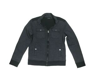 Marc Anthony Mens Full Zip Mens Jacket Gray Size Medium