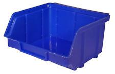 40 Stapelboxen PP Kunststoff Gr.1 blau Sichtlagerkästen Stapelkästen Lagerbox