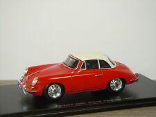 Porsche 356C Cabrio Hard Top 1963 - Spark 1:43 in Box *43187