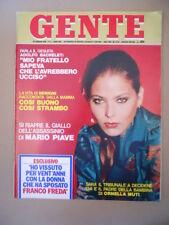 GENTE n°9 1980 Ornella Muti Roberto Benigni Mario Piave Bachelet   [C38]