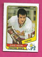RARE 1976-77 OPC WHA # 52 SAINTS DAVE KEON EX-MT CARD (INV# C8168)