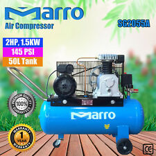 NEW 145 PSI Marro Indstrial Air Compressor 50L 2HP, 1.5KW ELECTRICAL MOTOR