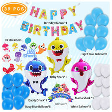 Baby Shark Party Supplies - Baby Shark Birthday Decorations - 39 Pieces