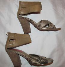 BETSEY JOHNSON BAZAR gold snake print ankle strap strappy sandals vegan shoes **