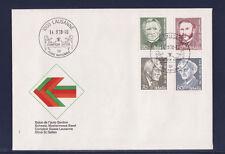 SUISSE  enveloppe  foire nationale   1978  célébrités    num:  1067/70