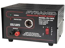 New Pyramid PS15KX 10 Amp Regulated AC/DC Power Supply w/Cigarette Lighter Plug