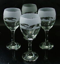 More details for greyhound dog racing gift wine glasses set of four.