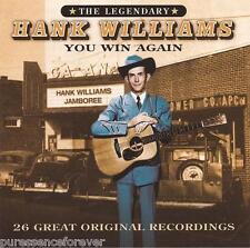 HANK WILLIAMS - You Win Again: 26 Great Original Recordings (EU 26 Tk CD Album)