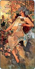 Repro Art Nouveau Print  ' Autumn' by Alphonse Mucha