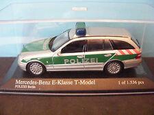 Mercedes Benz 'E' Class Berlin Pol.izei Estate car 1 of 1536 Minichamps 1:43rd.