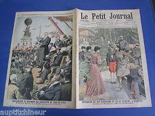 Le petit journal 1906 795 Roi Espagne Biarritz Paris monument aéronautes