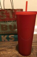 2020 Starbucks Matte Red Studded Tumbler 24oz Christmas Cup