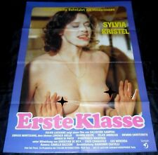 1980 Love in First Class  ORIGINAL Germany A1 POSTER Sexy Nude Sylvia Kristel
