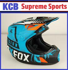 FOX V1 Vicious Blue Motocross Dirtbike Motorcycle Helmet Youth Large YL 51-52cm