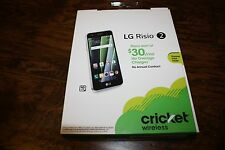 BRAND NEW Cricket Wireless LG Risio 2 5 in Quad Core 4G LTE 16gb cell Smartphone