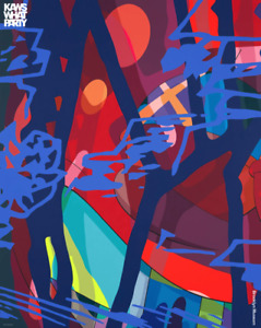 """NEW KAWS """"SCORE YEARS"""" What Party Brooklyn Museum 2021 Exhibition Poster Print"""