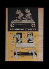 Laughing Clowns Action Toy Wooden Pull How-To build PLANS