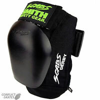 """SMITH """"Scabs"""" Derby Knee Pads Skateboard Roller Derby S M or L BLACK Protection"""