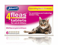 Johnsons 4Fleas Cat Flea Tablets 6 Pack Bulk Buys, Kills Fleas In 15 Minutes