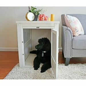 50 Lbs Pet White Wooden Crate