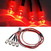 4 Red LED Light Headlight Kit for 1/5 1/8 1/10 1/12 1/16 RC Car Truck Model