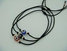 3 Evil Eye Black String Kabbalah Bracelet Goldtone Bead Good Luck Charm.