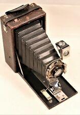 Vintage Kodak PREM Folding Pocket Camera Bellows Nickel Plated Working c.1908