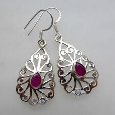 Unbranded Drop/Dangle Natural Ruby Fine Earrings