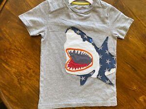 Mini Boden boys Gray shark T-Shirt 6-7