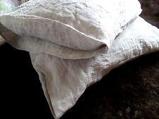 LINEN PILLOWCASE  envelope closure queen linen pillow cover eco linen bedding