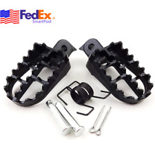 Black Pit Dirt Bike Foot Pegs Footrest Pedal For Suzuki DR Honda Yamaha Kawasaki